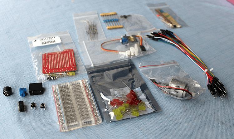 Matériel du Kit Inventeur Arduberry