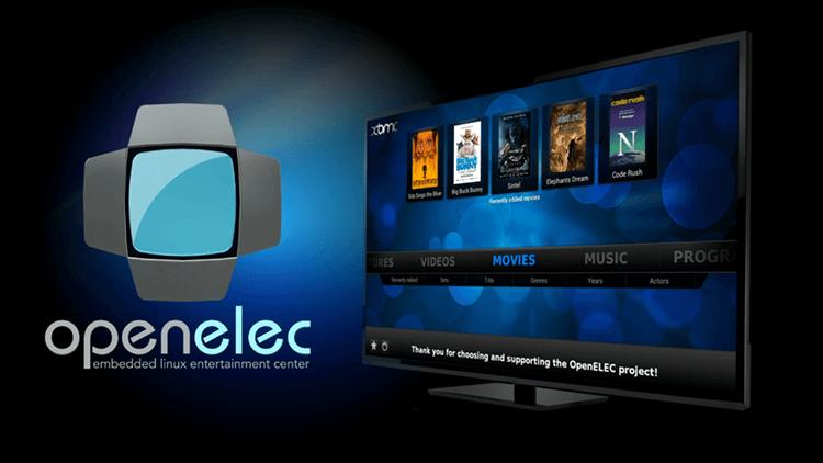 Interface du lecteur multimédia OpenElec